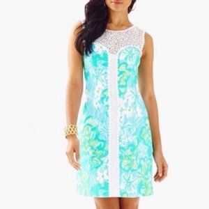 Lilly Pulitzer Sofia Lace Shift Dress Sz 0